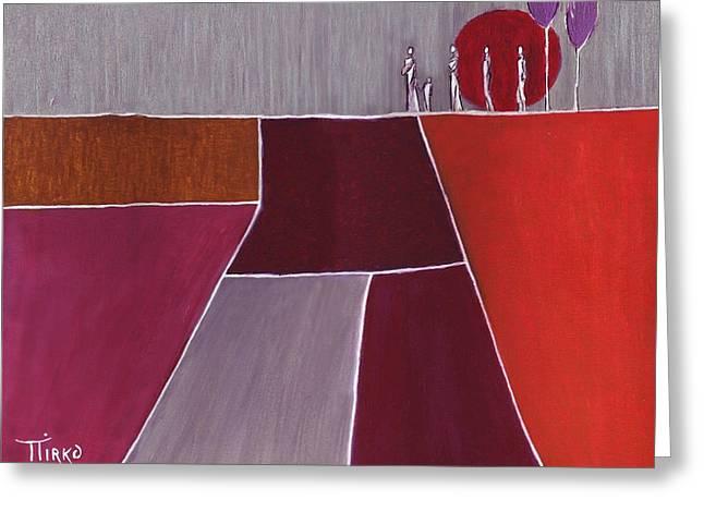 Terre De Feu - 2007 Greeting Card by Mirko Gallery