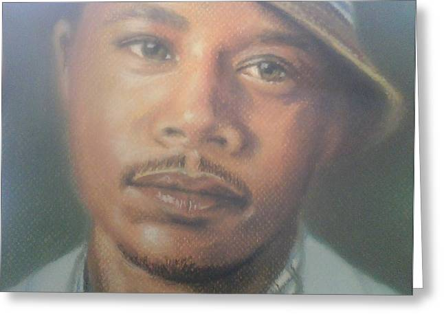 Celebrity Portraits Pastels Greeting Cards - Terrence Howard  Greeting Card by Ronnie Melvin