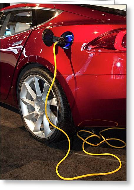 Tesla Model S Electric Sports Car Greeting Card by Jim West