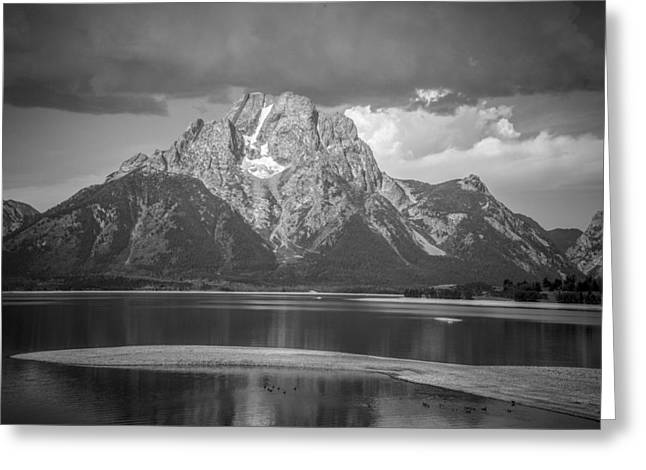 Moran Pyrography Greeting Cards - Teton National Park Greeting Card by Oleksii Khmyz