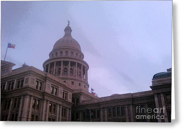 Constituent Greeting Cards - Texas capital Greeting Card by Paul Wesson