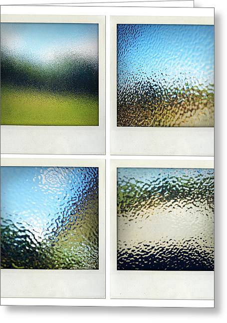 Frosted Glass Greeting Cards - Textured surfaces Greeting Card by Les Cunliffe