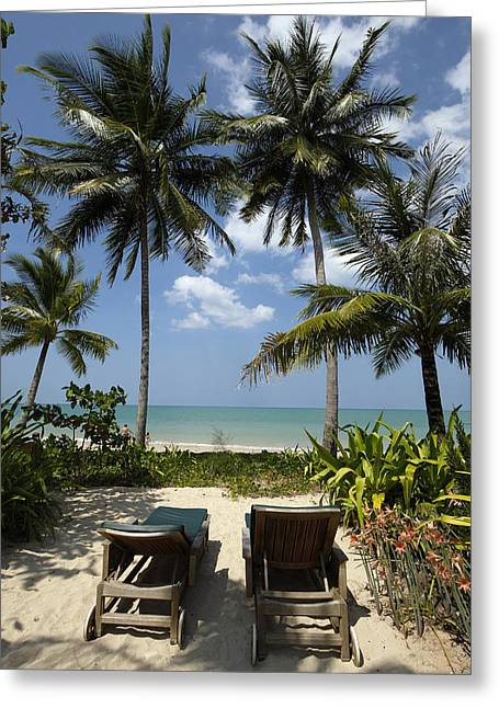 Thailand, Khao Lak, Meridien Hotel � Greeting Card by Tips Images