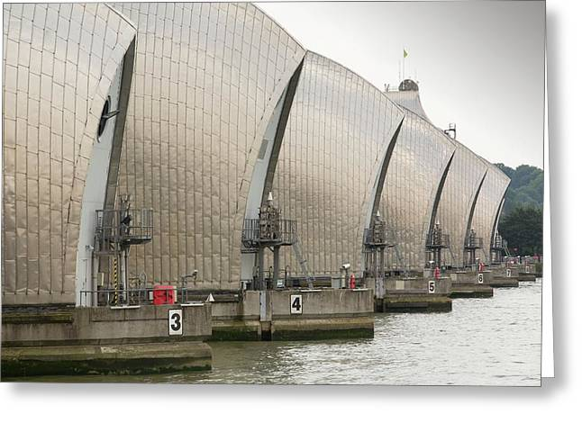Thames Barrier Greeting Card by Ashley Cooper
