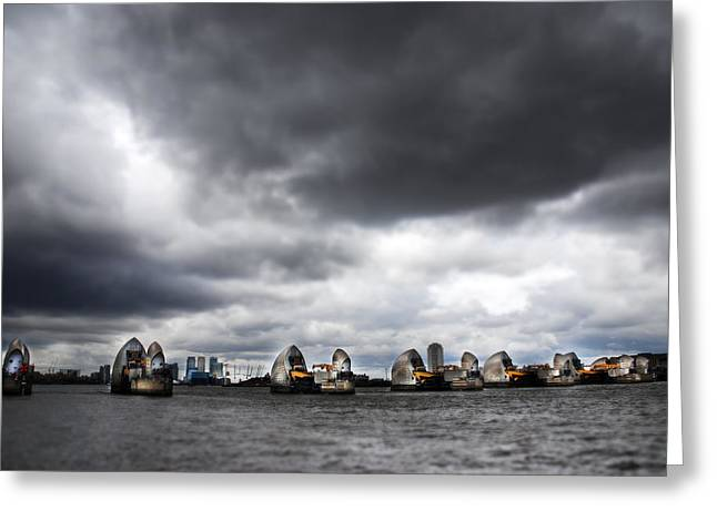 Barriers Greeting Cards - Thames Barrier Greeting Card by Mark Rogan