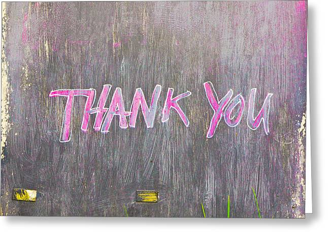 Thankyou Greeting Cards - Thank you Greeting Card by Tom Gowanlock