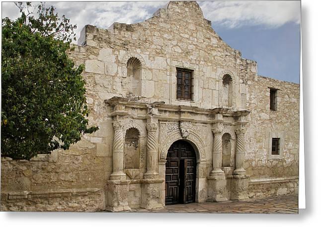 Texas Revolution Greeting Cards - The Alamo Greeting Card by David and Carol Kelly