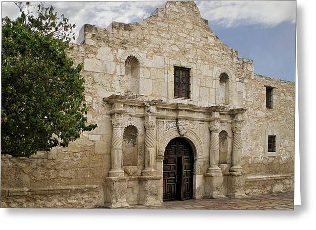 Texas Revolution Greeting Cards - The Alamo Greeting Card by David and Carol Kelly