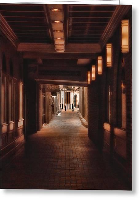 The Alleyway Greeting Card by Joann Vitali