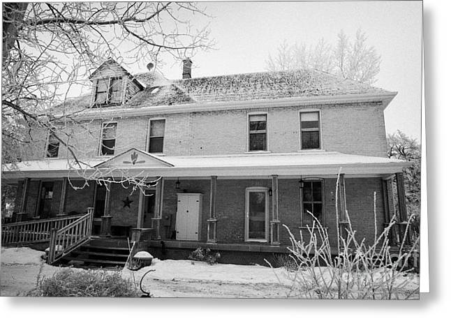 the ananda arthouse in the former st josephs rectory in Forget Saskatchewan Canada Greeting Card by Joe Fox
