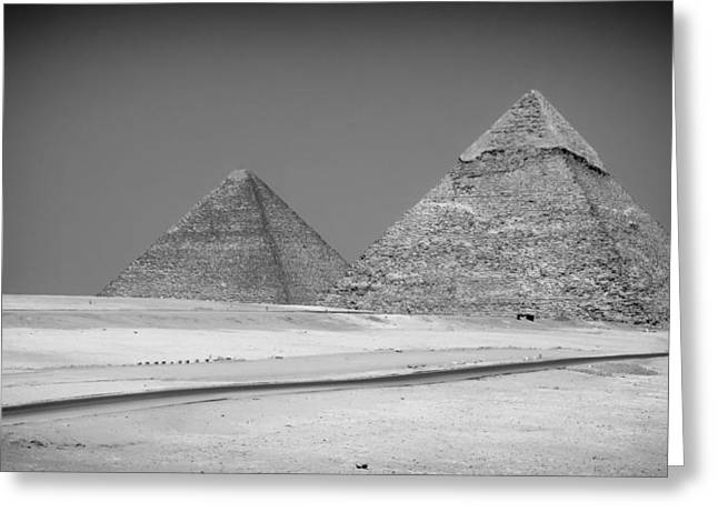 Fascination Greeting Cards - The Ancient Pyramids of Egypt Greeting Card by Mountain Dreams