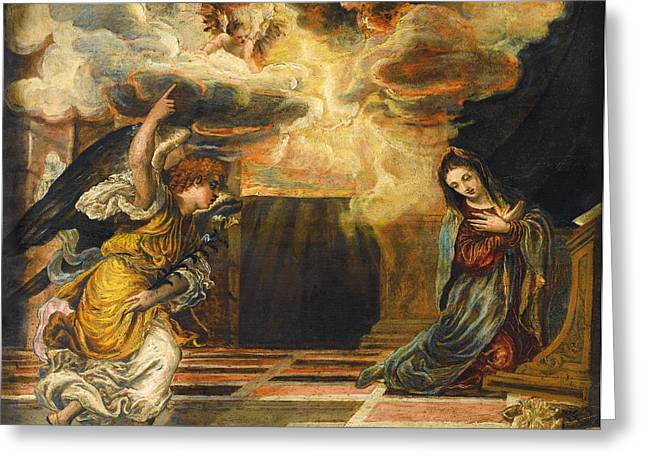 The Annunciation Greeting Card by Mountain Dreams