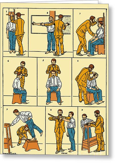 Police Officer Greeting Cards - The Anthropometrical Signalment, 1896 Greeting Card by Science Source