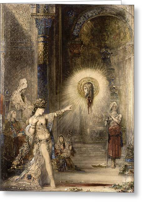 Gustave Moreau Greeting Cards - The Apparition Greeting Card by Gustave Moreau