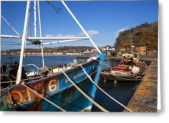 Fishing Port Greeting Cards - The Ard Eireann Fishing Boat Greeting Card by Panoramic Images