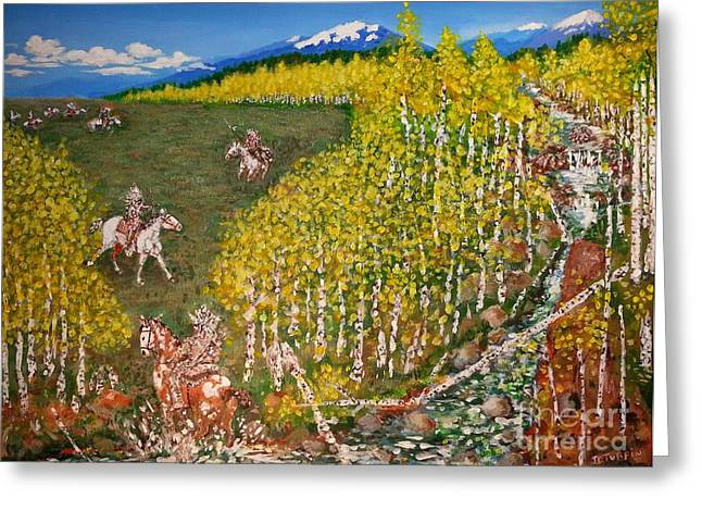Commanche Greeting Cards - The Aspen Dash Greeting Card by JD Turpin
