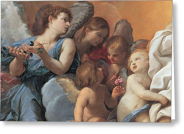 Religious Art Paintings Greeting Cards - The Assumption of the Virgin Mary Greeting Card by Guido Reni