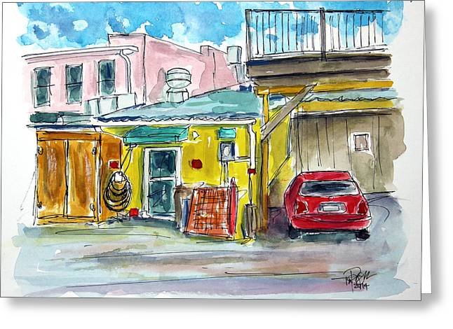 Franklin Tennessee Greeting Cards - The Backside of Business Greeting Card by Tim Ross