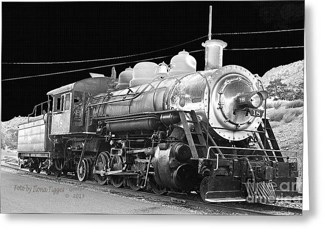 Shower Curtain Greeting Cards - The Baldwin Locomotive Works 1914 Greeting Card by  ILONA ANITA TIGGES - GOETZE  ART and Photography