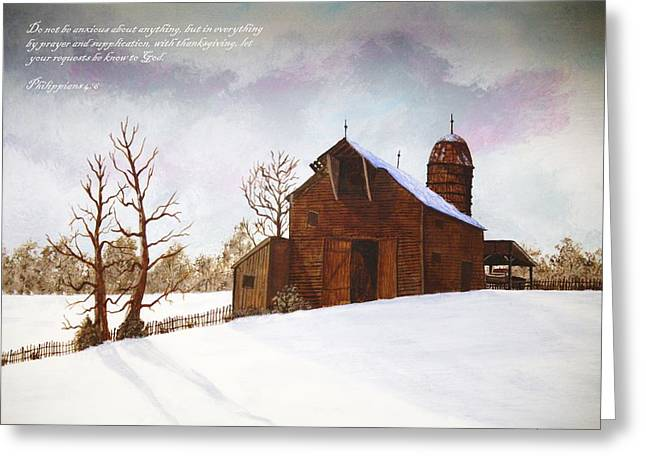 Paulette Thomas Greeting Cards - The Barn Greeting Card by Paulette Thomas