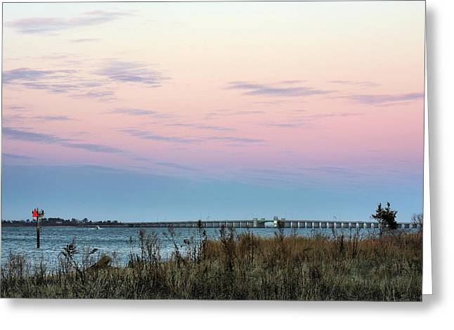 Jones Beach Greeting Cards - The Bay Greeting Card by JC Findley