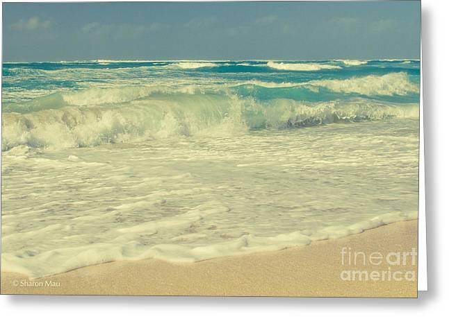 The Beach Greeting Card by Sharon Mau