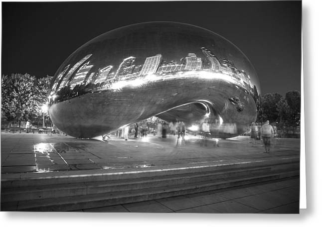 The Bean Greeting Cards - The Bean at Night Greeting Card by John McGraw