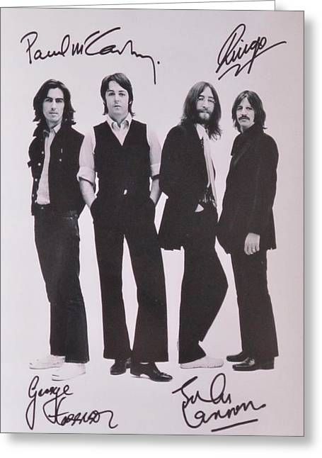 Metal Art Greeting Cards - The Beatles Greeting Card by Donna Wilson