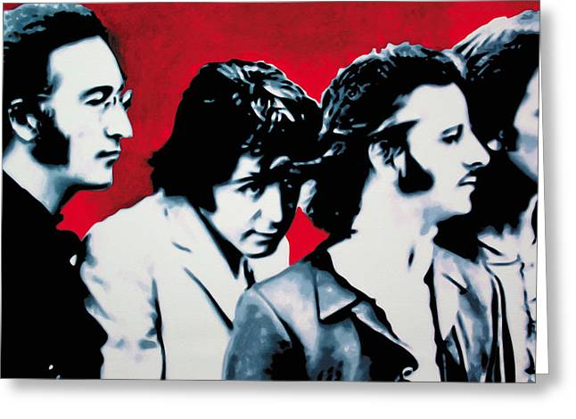 Paul Mccartney Greeting Cards - The Beatles Greeting Card by Luis Ludzska