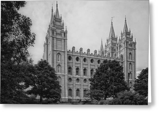 Salt Lake City Temple Greeting Cards - The Beautiful Mormon Temple - Salt Lake City Greeting Card by Mountain Dreams