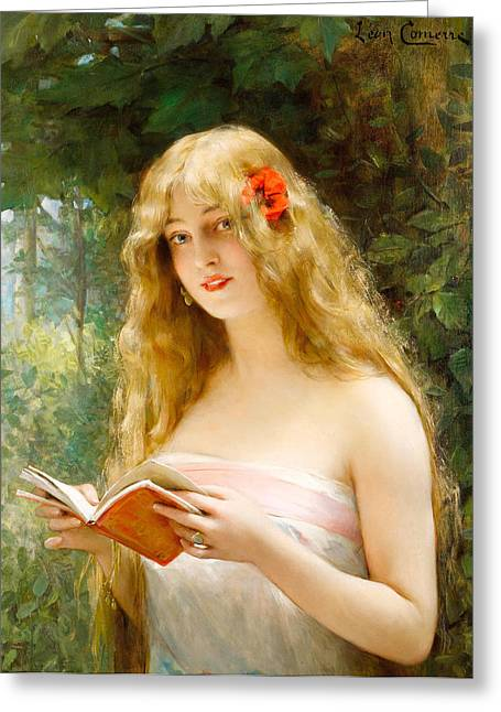 Francois Greeting Cards - The Beautiful Reader Greeting Card by Leon Francois Comerre