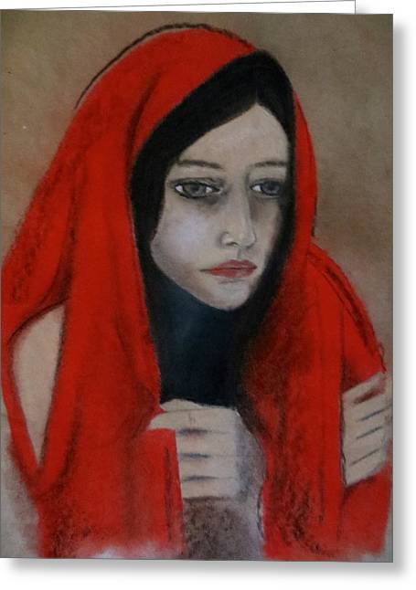 Virgin Mary Pastels Greeting Cards - The Believer Greeting Card by C Pichura