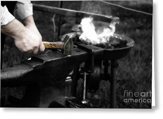 At Work Digital Art Greeting Cards - The Blacksmith  Greeting Card by Steven  Digman