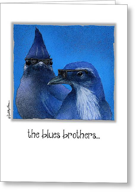 The Blues Brothers... Greeting Card by Will Bullas