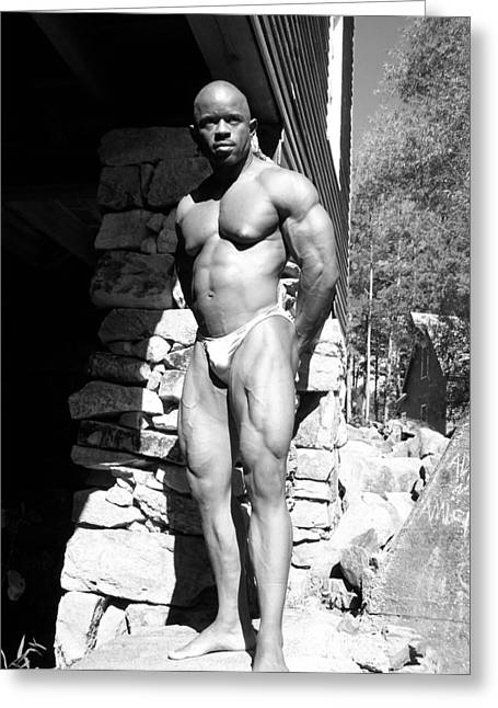 Stock Muscle Photos Greeting Cards - The Bodybuilder Greeting Card by Jake Hartz