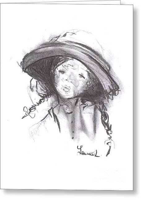 Laurie D Lundquist Greeting Cards - The Bonnet Greeting Card by Laurie D Lundquist