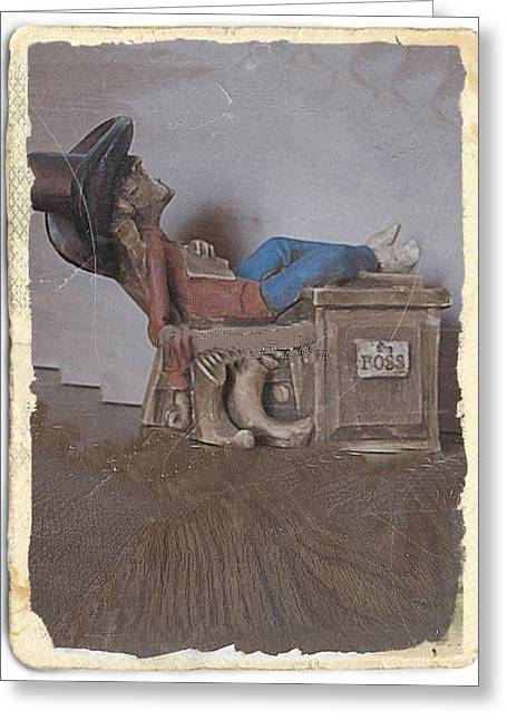 Antique Ceramics Greeting Cards - The boss Greeting Card by Louise Narvick