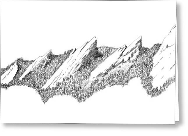 University Of Boulder Colorado Greeting Cards - The Boulder Flatirons Greeting Card by Jerry McElroy