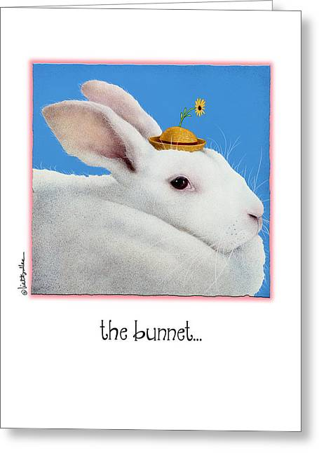Hare Greeting Cards - The Bunnet... Greeting Card by Will Bullas