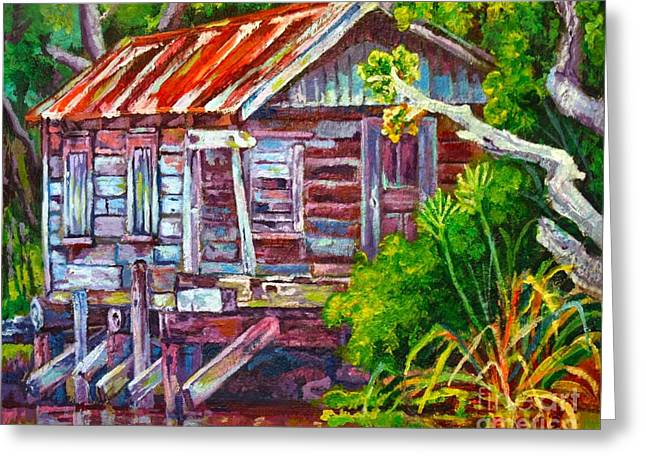 Reflectio Greeting Cards - The Camp Bayou Greeting Card by Lisa Tygier Diamond