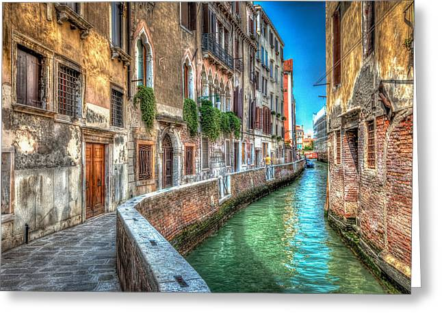 Photo Art Gallery Greeting Cards - The Canal. Greeting Card by David Melville