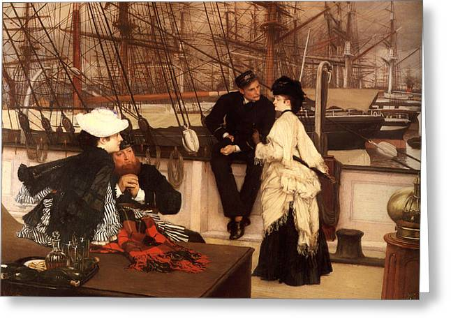 Goodbye Paintings Greeting Cards - The Captain and the Mate Greeting Card by James Tissot