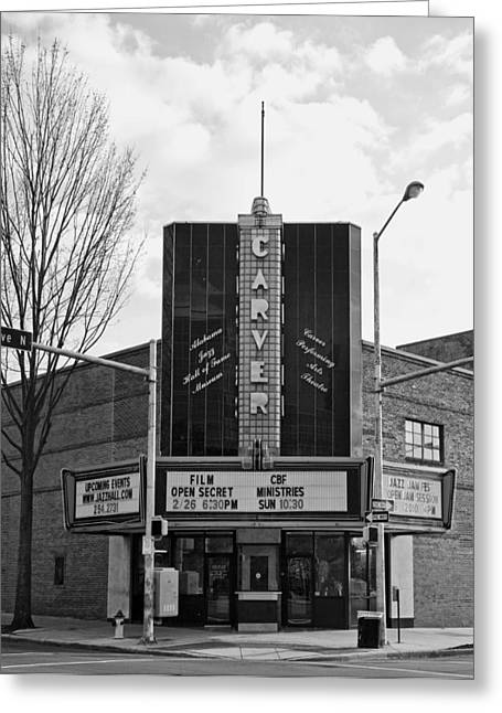 Carver Greeting Cards - The Carver Theatre in Birmingham Alabama Greeting Card by Mountain Dreams