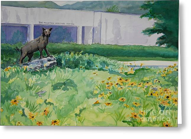 Wcu Greeting Cards - The Catamount Greeter Greeting Card by Sheena Kohlmeyer