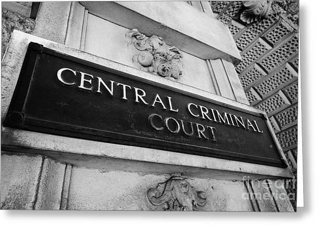 Centre Court Greeting Cards - the central criminal court old bailey London England UK Greeting Card by Joe Fox