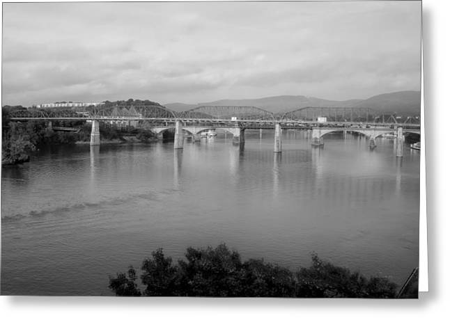 Tennessee River Greeting Cards - The Chief John Ross Bridge - Chattanooga  Greeting Card by Mountain Dreams