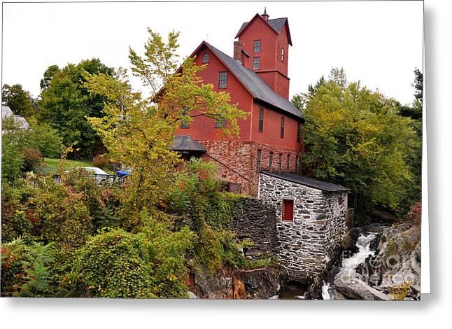 The Chittenden Mill Greeting Card by Wanda-Lynn Searles
