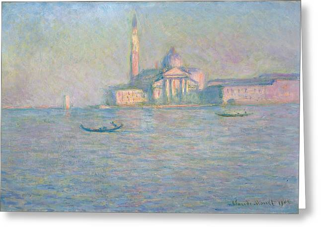 The Church Greeting Cards - The Church of San Giorgio Maggiore Venice Greeting Card by Claude Monet