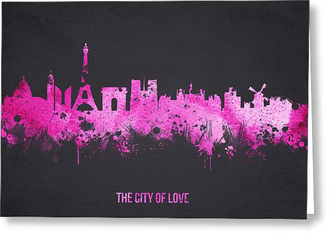 The City Of Love Greeting Card by Aged Pixel