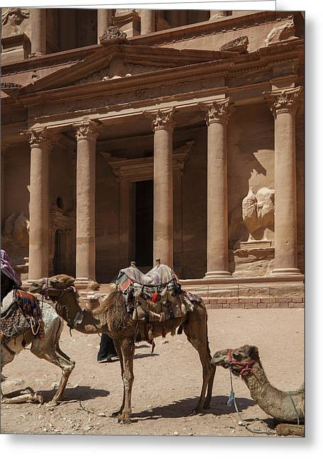 Petra Greeting Cards - The city of Petra in Jordan Greeting Card by Enrico Mariotti